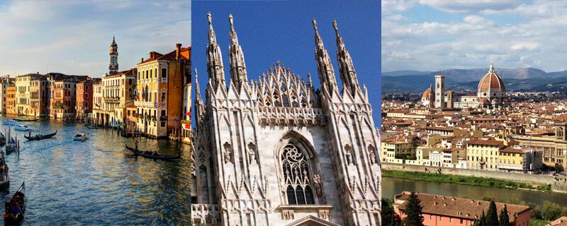 憧れのイタリアに2都市以上滞在!  イタリア周遊留学コース