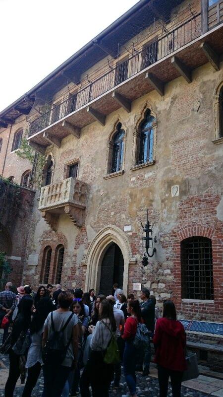 ロメオとジュリエットの舞台、ヴェローナ
