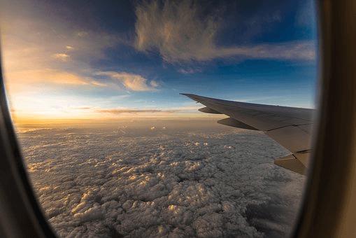 機内でのフレーズ